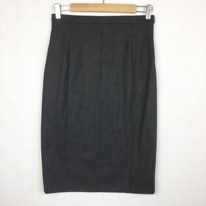 Escada Dark Gray Wool Blend Pencil Skirt